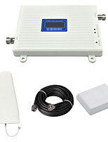 DCS 1800mhz Cell Phone Signal Booster DCS980 Signal Amplifier with Log Periodic Antenna / Panel Antenna / Cable / LCD Display / White