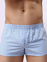 Male Men Push-Up Plaid/Check Boxer Briefs
