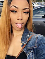 Ombre T1B/30 Brazilian Virgin Hair Glueless Lace Wigs Straight Lace Front Human Hair Wigs Virgin Hair Wig with Baby Hair for Woman