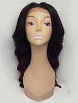 Ombre t1b / 99j peles virgens brasileiras do laço de cabelo virgem perdidas peruca de peruca de cabelo humano peruca de peruca de cabelo
