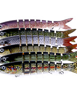 6 pcs Hard Bait Jerkbaits Minnow Assorted Colors g/Ounce mm/7-3/4