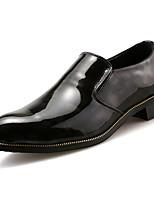 Men's Loafers & Slip-Ons PU Spring Summer Low Heel Black Ruby Under 1in