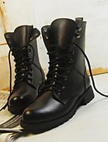 Women's Boots Comfort PU Spring Casual Black Flat