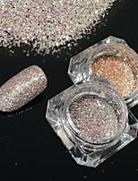 2bottles/set 0.2g/bottle Fashion Gorgeous Galaxy Starry Effect Nail Art Platinum Glitter Power DIY Shining Decoration BG10&16