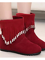 Women's Boots Comfort Fleece Spring Daily Comfort Ruby Black Flat
