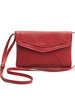 Damen Umhängetasche PU Ganzjährig Baguette Bag Reißverschluss Blau Schwarz Rot