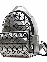 Women Backpack PU All Seasons Formal Sports Casual Outdoor Office & Career Shopping Bucket Zipper Silver Black White