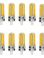 YWXLight® 10Pcs G4 5W 72LED 5730 SMD 500-600 Lm Cool White Warm White LED Bi-Pin Lights DC 12-24V / AC 12V