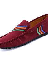 Men's Loafers & Slip-Ons Comfort Light Soles PU Spring Fall Casual Flat Heel Khaki Ruby Black Flat