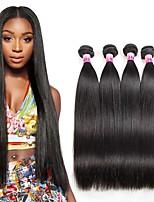 Tissages de cheveux humains Cheveux Brésiliens Droit 1 An 4 Pièces tissages de cheveux