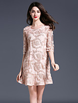 Women's Going out Casual/Daily Party Vintage Street chic Sophisticated A Line Dress