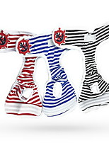 Dog Pants Dog Clothes Casual/Daily Stripe Black Ruby Blue