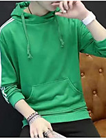 Men's Casual/Daily Hoodie Solid Round Neck Micro-elastic Polyester Long Sleeve