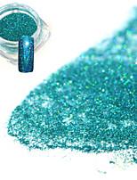 0.2g/bottle Fashion Elegant Lake Blue Nail Art DIY Glitter Holographic Laser Shining Fine Powder Decoration Shining Pigment JX08