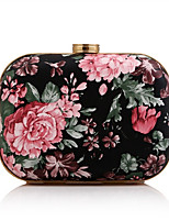 Women Evening Bag PU All Seasons Event/Party Wedding Minaudiere Flower Clasp Lock Red Yellow Pale Pink Handbag Clutch More Colors