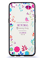 For OPPO R9s  R9s Plus Case Cover Pattern Back Cover Case Flower Word / Phrase Hard PC R9 R9 Plus