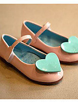 Girls' Flats First Walkers Leatherette Spring Fall Casual Walking First Walkers Magic Tape Low Heel Blushing Pink Blue Flat