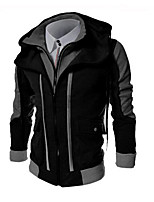Men's Plus Size Casual/Daily Street chic Hoodie 3D Print Hooded strenchy Cotton Cashmere Long Sleeve Winter