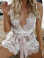 Women's Ultra Sexy Nightwear,Sexy Lace Solid-Thin Translucent Cotton