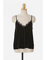 Women's Casual/Daily Sexy Summer Tank Top,Solid Strap Sleeveless Other Thin