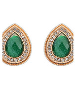 Euramerican Vintage Luxury Elegant  Droplets Gem Stud Earrings Women's Business Daily Movie Jewelry