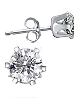 Earrings Set Flower Style Sterling Silver Flower Silver Jewelry For Birthday Daily 1 pair