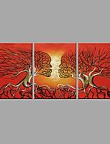 Ручная роспись АбстракцияАбстракция 3 панели Холст Hang-роспись маслом For Украшение дома