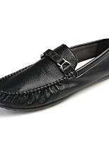 Для мужчин Туфли на шнуровке Мокасины Полиуретан Весна Осень Для прогулок На плоской подошве Белый Черный Менее 2,5 см