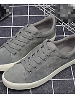 Men's Sneakers Comfort Nubuck leather Spring Casual Black Gray Flat