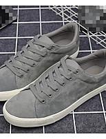 Men's Sneakers Comfort Nubuck leather Spring Casual Black Gray Flat