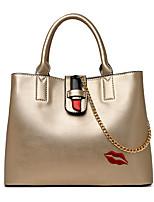 Women Shoulder Bag PU All Seasons Baguette Zipper Black Gold