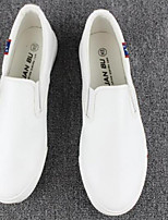 Men's Loafers & Slip-Ons Comfort PU Spring Casual Black White Flat