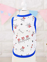 Dog Vest Dog Clothes Cute Sports Casual/Daily Cartoon Pool Ruby