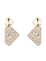 Euramerican Delicate And Elegant Fashion Square Rhinestone Earrings  Women's  Business  And Party Drop Earrings Statement Jewelry