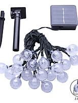 6M  2W 30Leds  RGB 360LM Solar String Lights Christmay Fine Party Light Waterproof Lamp