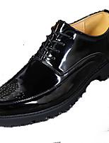 Men's Oxfords Formal Shoes Bullock shoes PU Spring Fall Office & Career Party & Evening Casual Gore Flat Heel Red Gray Black Flat