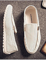 Men's Loafers & Slip-Ons Comfort Tulle Canvas Spring Casual Comfort White Black Flat