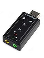 Diewu free drive externo usb placa de som notebook usb conversor de adaptador de fone de ouvido 7.1