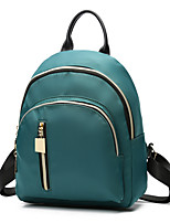 Women Backpack Canvas All Seasons Formal Sports Casual Camping & Hiking Office & Career Shopping Bucket Zipper Ruby Black Green