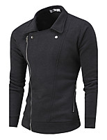 Men's Sport Casual/Daily Casual/Daily Sweatshirt Solid Shirt Collar Micro-elastic Cotton Polyester Long SleeveSpring, Fall, Winter,