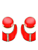 Women's Drop Earrings Unique Design Geometric Arylic Alloy Jewelry Jewelry For Party Daily Casual Stage 1 pair