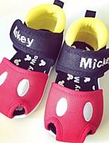Baby Flats Flower Girl Shoes Leatherette PU Spring Casual Walking Flower Girl Shoes Magic Tape Flat Heel Blushing Pink Black/Red Flat
