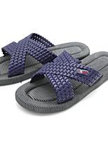 Для мужчин Тапочки и Шлепанцы Удобная обувь ПВХ Весна Повседневные Удобная обувь Золотой Синий На плоской подошве