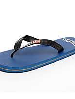 Men's Slippers & Flip-Flops Spring Summer Comfort PVC Outdoor Office & Career Casual Flat Heel Navy Blue Black