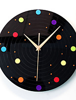 Modern/Contemporary Casual Places Wall Clock,Round Novelty Acrylic Indoor Clock