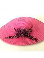 Da donna Primavera/Autunno Estate Paglia Casual Motivo/Decorazione Cappelli Cappello da sole,Solidi