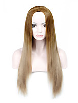 Ladies Women Party Straight Hair Full Wig Daily Wearing Heat Resistant Cosplay Blonde To Brown Mixed Color Synthetic Wigs