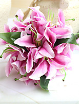 Artificial Calla Lily Silk Flower Bouquet Wedding Decoration Mariage Fake Decorative Flower Home Party Decor (14 flower heads)