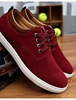 Men's Sneakers Comfort Suede Spring Casual Coffee Blue Burgundy Flat