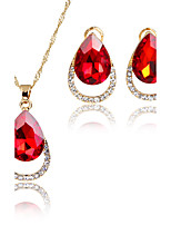 Women's Jewelry Set Pendant Necklaces Bridal Jewelry Sets AAA Cubic Zirconia Euramerican Fashion Vintage Adorable ClassicZinc Alloy